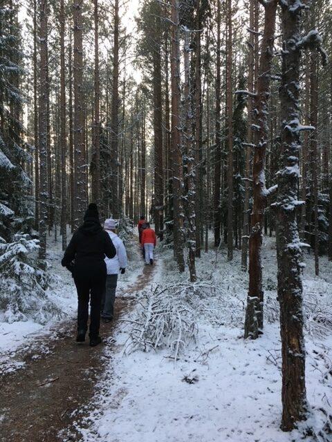 Dorikset, luminen polku, ulkoilua yhdessä