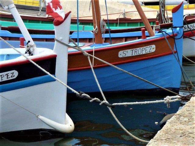 kulkusalla, St. Tropez, kalastusveneet